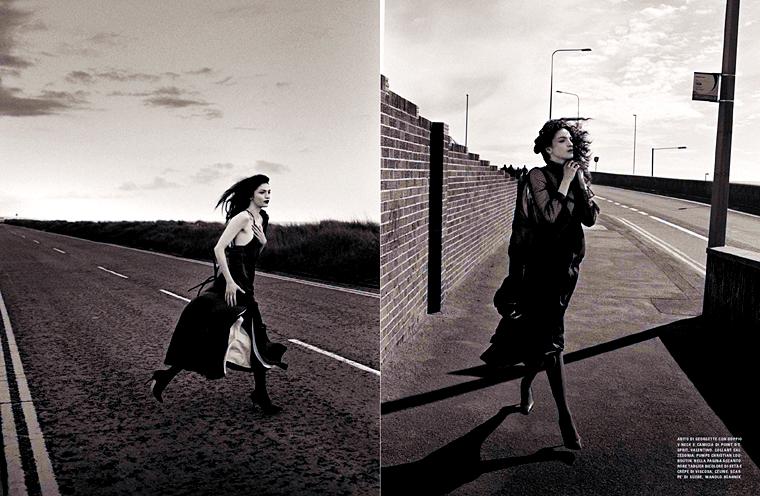 Mariacarla Boscono for Vogue Italia, August 2015, photographed by Vincent van de Wijng
