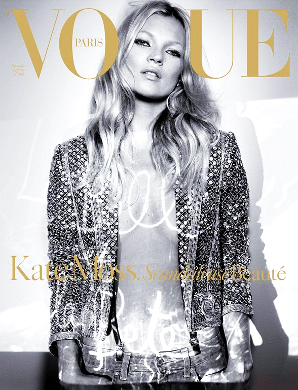 Kate Moss for Vogue Paris, December-January 2005-06, photographed by Craig McDean