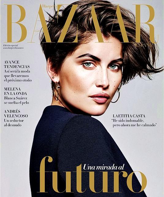 Laetitia Casta for Harper's Bazaar Spain, August 2015, photographed by Alique (1)