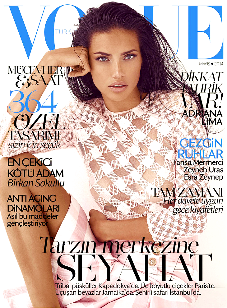 Adriana Lima for Vogue Turkey, May 2014, photographed by Koray Birand