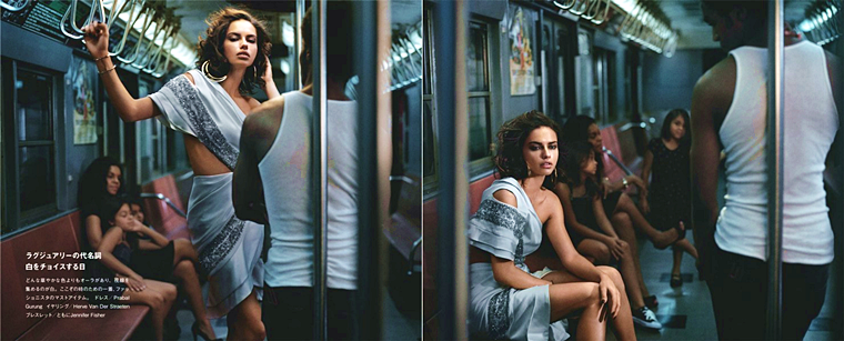 Adriana Lima for Numéro Tokyo #72, December 2013, photographed by Vincent Peters