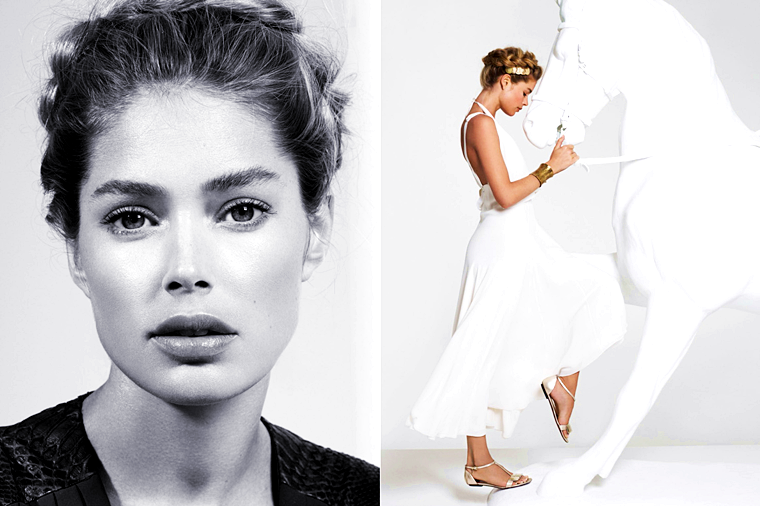 Doutzen Kroes for Vogue Turkey, March 2014, photographed by Cuneyt Akeroglu
