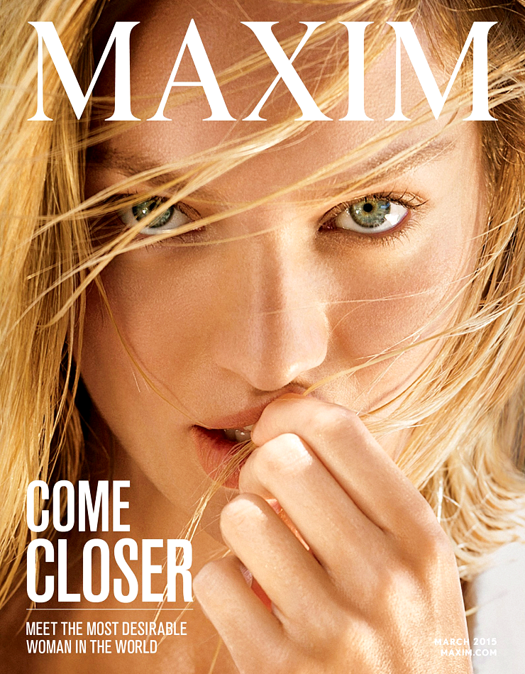 Candice Swanepoel for Maxim Magazine, March 2015, photographed by Gilles Bensimon