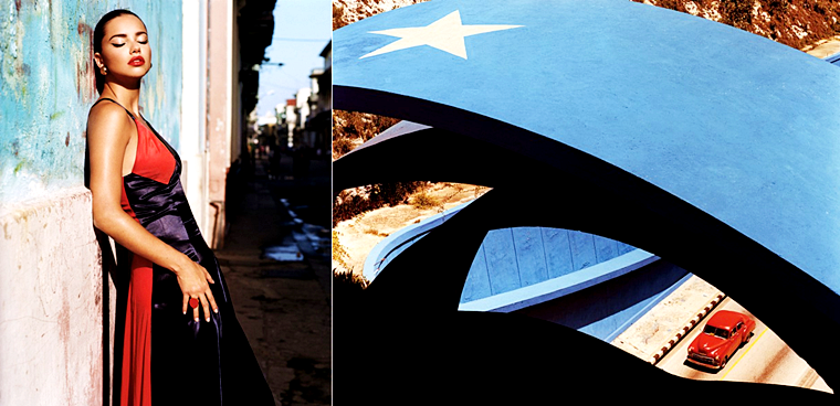 "Adriana Lima & Joan Smalls for W Magazine, ""Viva Cuba"", September 2015, photographed by Alasdair McLellan"