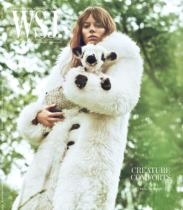Freja Beha Erichsen for WSJ. Magazine, September 2015, photographed by Lachlan Bailey