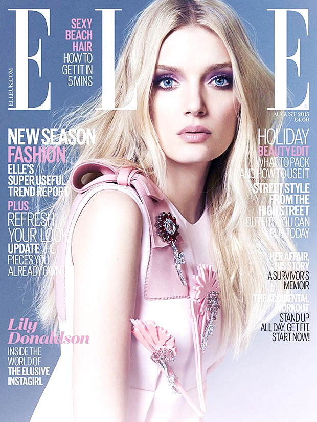 Lily Donaldson for Elle UK, August 2015, photographed by Kai Z Feng (1)