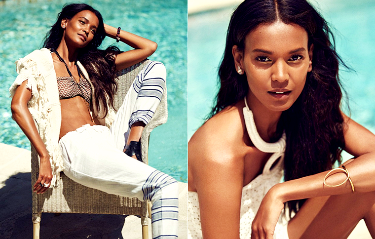 Liya Kebede for Grazia France, August 2015, photographed by Jason Kim