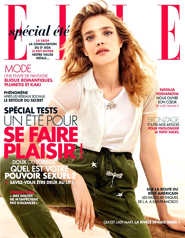 Natalia Vodianova for Elle France, August 2015, photographed by Jean Baptiste Mondino