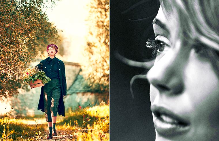 "Frida Gustavsson for Elle Sweden, ""Dagdrömmare"", August 2015, photographed by Andreas Sjodin"