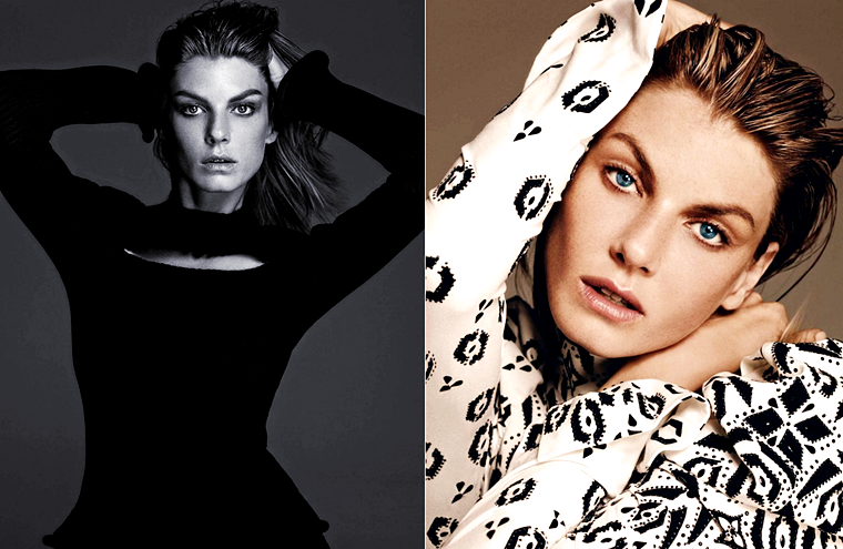 """Angela Lindvall for Elle Korea, """"Tune with Nature"""", August 2015, photographed by Hong Jang Hyun"""