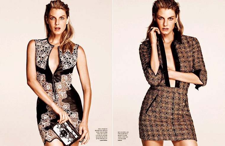 "Angela Lindvall for Elle Korea, ""Tune with Nature"", August 2015, photographed by Hong Jang Hyun"