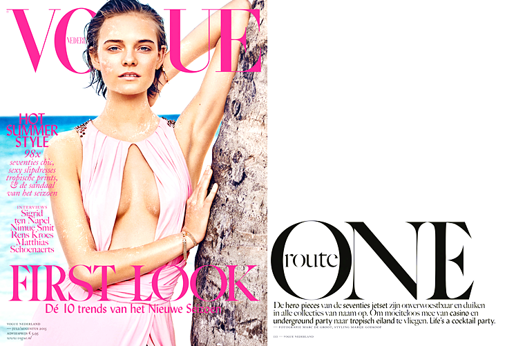 "Nimue Smit for Vogue Netherlands, ""One Route"", July/August 2015, photographed by Marc de Groot (1)"
