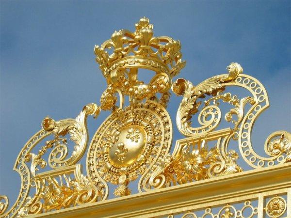 Details de la grille royale a versailles