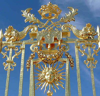 Détaille de la grille royale de versailles