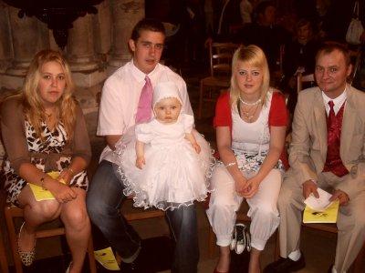 le bapteme de notre fille le 5 juin 2011