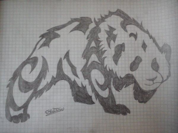 Panda tatouage