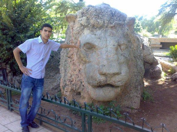 C'est moi A coté le LION d ifran