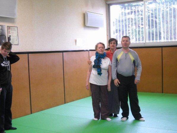 Jeudi 04 Avril 2013 séance de gym au DOJO à AUZEVILLE