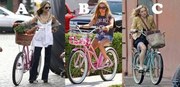 Sarah qui fait du vélo