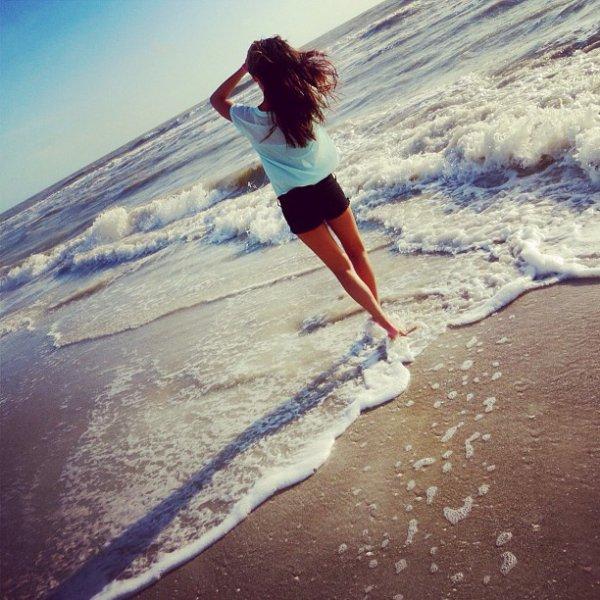 a la plage :)!