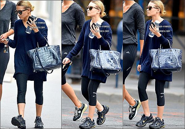 02 septembre : Ashley Olsen et une amie vuent plutôt  décontracté quittant la salle de gym dans New-York.