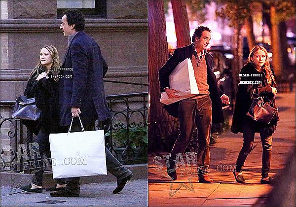 21 Octobre : Mary-Kate Olsen et son amoureux Olivier Sarkozy  ont été aperçus dans le quartier de Soho.
