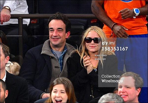 13/12/12 : Mary-Kate et Olivier au match des Knicks contre les Lakers au Madison Squares Garden à New York.