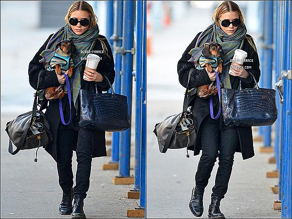 02 février : Enfin des nouvelles, Ashley Olsen à été photographiée ce promenant dans les rues de New-York.