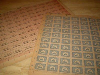 Planches timbres allemand, produits de nécéssités (période 1939-1945)