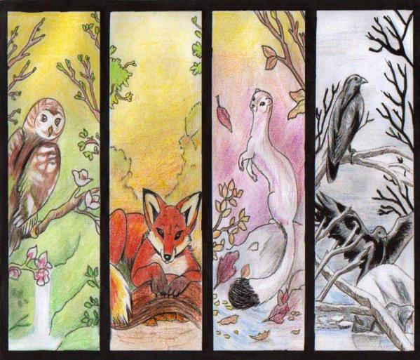 Les 4 saisons mon blog mes dessins what else for Le jardin des 4 saisons pusignan