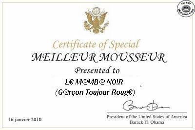 M¤ILLEUR MOUSSEUR 2010 (L¤ M@MB@ NO!R)