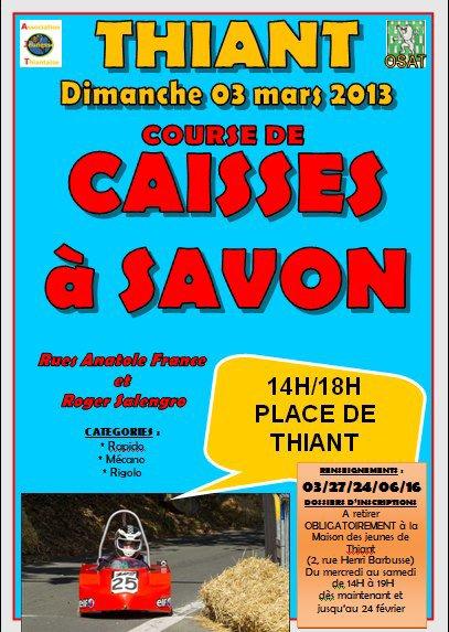 Dimanche 3 mars 2013 Course caisses à savon Thiant