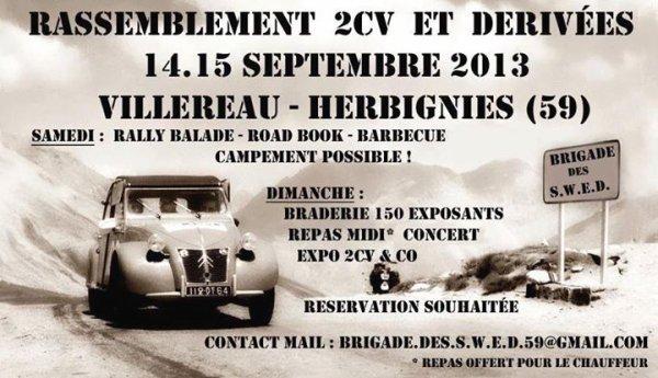Dimanche 15 septembre 2013 Exposition 2cv Villereau