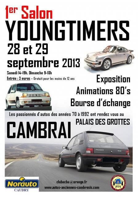 Samedi 28 Septembre 2013 Salon Youngtimers Cambrai