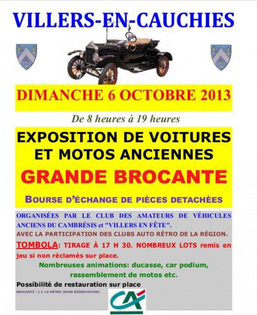 Dimanche 6 octobre 2013 Exposition Villers en Cauchies