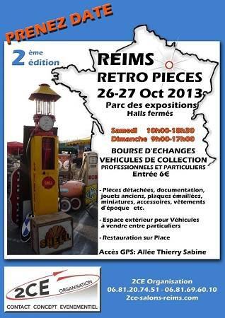 Dimanche 27 octobre Bourses de pièces Reims