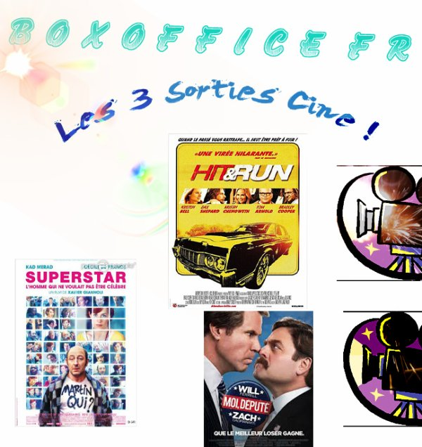 3 sorties Ciné du 29 août !