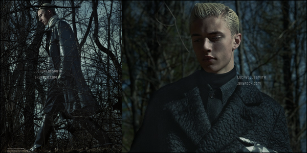 PHOTOSHOOT - Découvre le photoshoot de Lucky Blue Smith pour l'Officiel Hommes Italia.