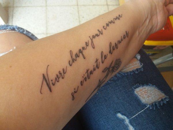 second tatoo fait