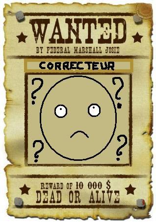 Je cherche un correcteur