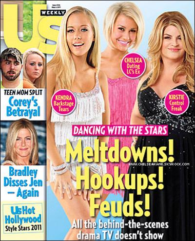+ Chelsea est en couverture du nouveau numéro du magazine américain US Weekly : +