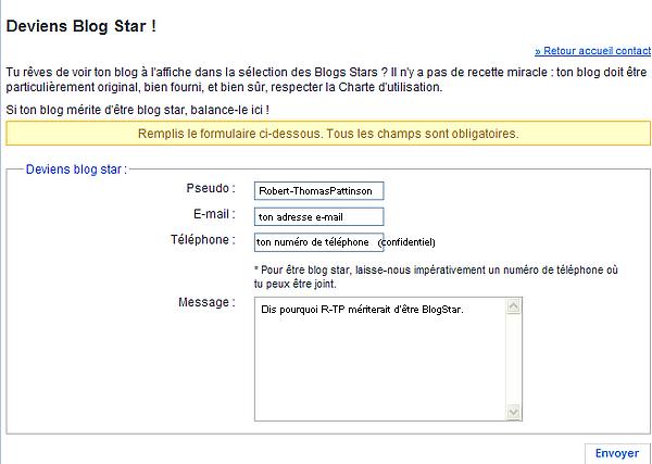 R-TP BlogStar ? 100ème article  :)