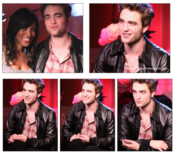"6 Novembre 2009  Rob se faisant interviewer par ""access hollywood"" avec le  cast"