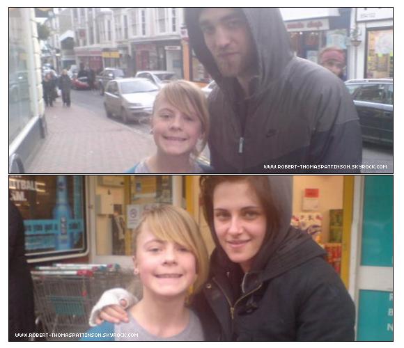 31 Décembre 2009 Scoop: Kristen a passé le nouvel an à Londres avec Robert comme nous pouvons le voir avec Kris & Rob qui pose avec la même fan le même jour. Alors Robsten Or Not Robsten ? A vous de me le dire...