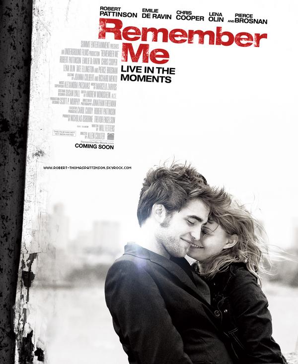 """Affiche officielle de """"Remember Me"""". Alors, hâte de le voir ? Sortie: 7 avril 2010"""