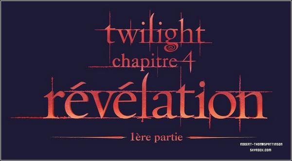 MOVIE:            Voici le logo officiel de Twilight chapitre 4 : Révélation.     VOS AVIS?