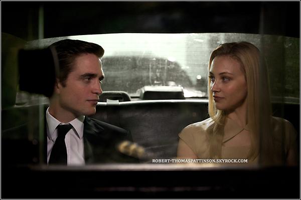 MOVIE:            Aperçu de Robert dans son nouveau film COSMOPOLIS avec Sarah Gadon (remplace Marion Cotillard).