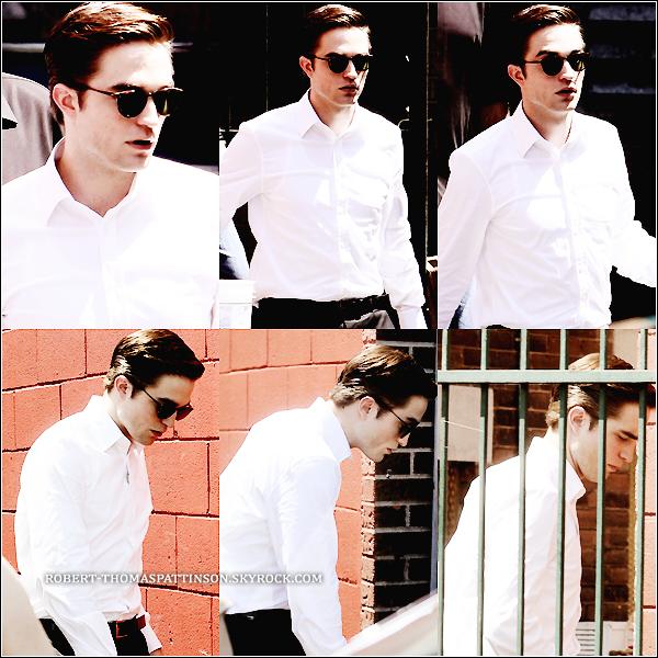 31/05/11:            Robert encore sur le tournage de son nouveau film COSMOPOLIS .