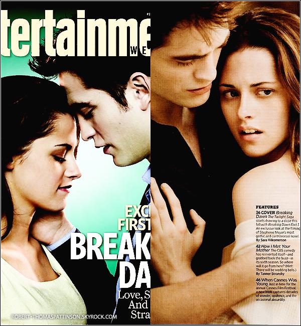 DIVERS:            Le célèbre magazine Entertainment Weekly nous dévoile les premières images de Breaking Dawn.