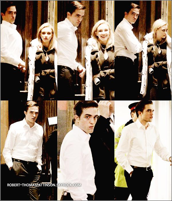 09/06/11:            Tournage de nuit pour Robert et sa co-star Sarah Gadon pour cosmopolis à Toronto.